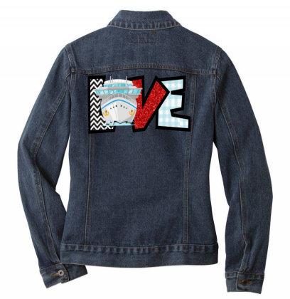 Love Cruise Ladies Denim Jacket Designed By Ashlıcar