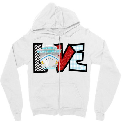Love Cruise Zipper Hoodie Designed By Ashlıcar