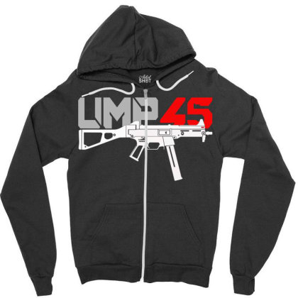 Ump 45 Zipper Hoodie Designed By Aim For The Face