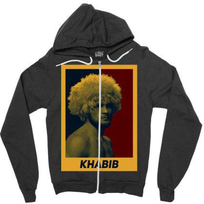 Khabib Zipper Hoodie Designed By Kaydestx