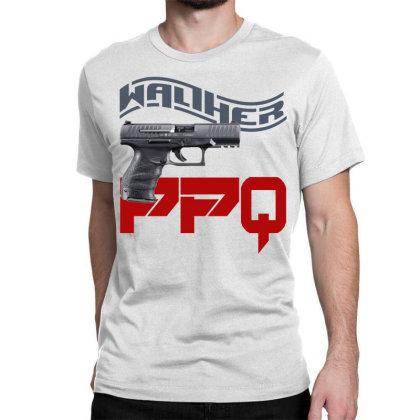 Handgun Walther Ppq Classic T-shirt Designed By Aim For The Face