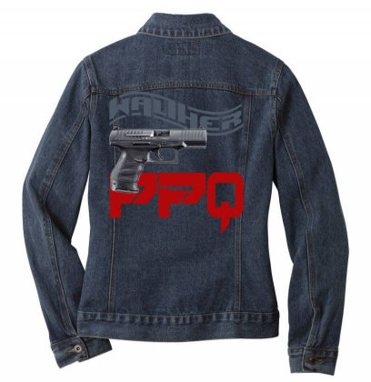 Handgun Walther Ppq Ladies Denim Jacket Designed By Aim For The Face