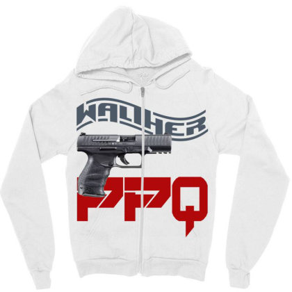 Handgun Walther Ppq Zipper Hoodie Designed By Aim For The Face