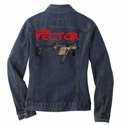 Kriss Vector Ladies Denim Jacket Designed By Aim For The Face