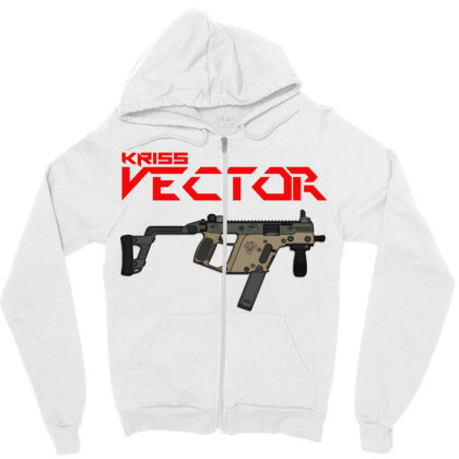 Kriss Vector Zipper Hoodie Designed By Aim For The Face