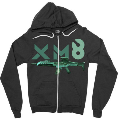 Rifle Xm8 Zipper Hoodie Designed By Aim For The Face