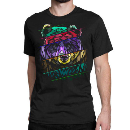 Ribal Distorted Bear Classic T-shirt Designed By Mrt90