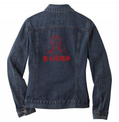 Do A Kickflip Ladies Denim Jacket Designed By Iwakvisual