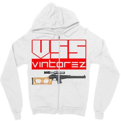 Vss Vintorez Zipper Hoodie Designed By Aim For The Face