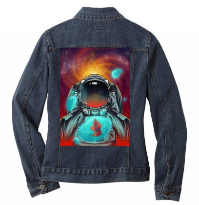 Beautiful Space Ladies Denim Jacket Designed By Septianmasna