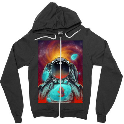 Beautiful Space Zipper Hoodie Designed By Septianmasna