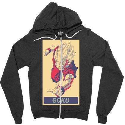 Goku Zipper Hoodie Designed By Kaydestx