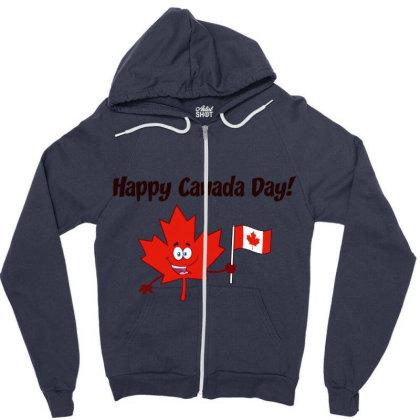 Happy Canada Day Zipper Hoodie Designed By Redline77