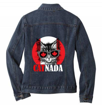 Catnada Funny Ladies Denim Jacket Designed By Redline77