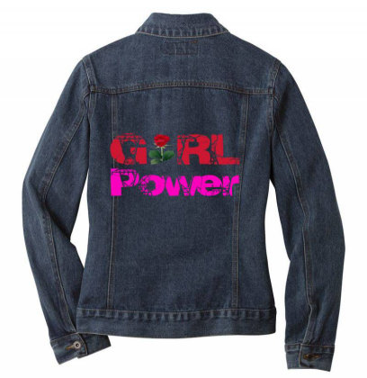 Girl Power Ladies Denim Jacket Designed By Redline77