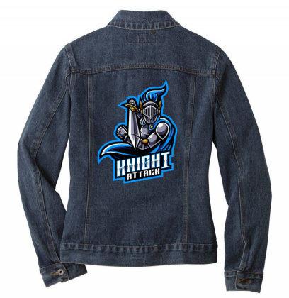 Knight Attack Ladies Denim Jacket Designed By Estore