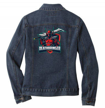 Deathbringer Ladies Denim Jacket Designed By Estore