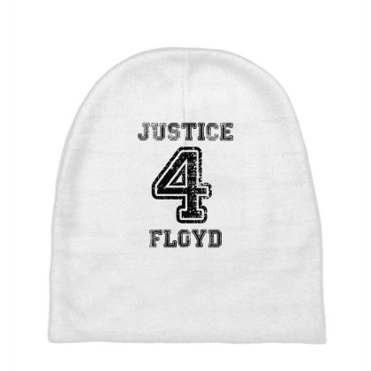 Justice For Floyd White Baby Beanies Designed By Uptosign