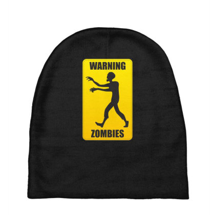 Warning Zombies Baby Beanies Designed By Estore