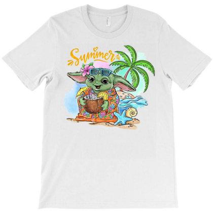 Baby Yoda Summer T-shirt Designed By Badaudesign