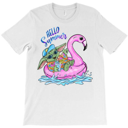 Hello Summer Yoda T-shirt Designed By Badaudesign