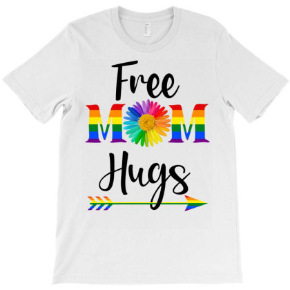 Free Mom Hugs Lgbt T-shirt Designed By Badaudesign