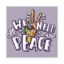 All We Need Is Peace Sticker Designed By Saraswatibk864@gmail.com