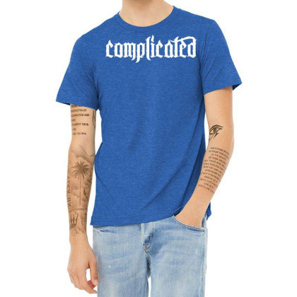Complicated Weird Strange Heather T-shirt Designed By Designisfun