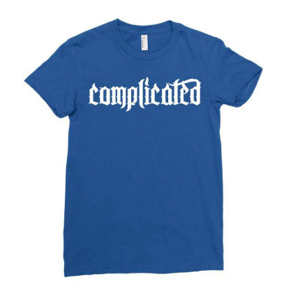 Complicated Weird Strange Ladies Fitted T-shirt Designed By Designisfun