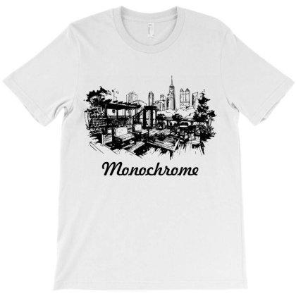 Monochrome Black White Color T-shirt Designed By Designisfun