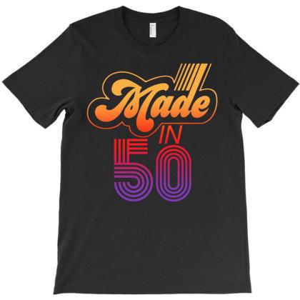 Made In 1950 Retro T-shirt Designed By Badaudesign