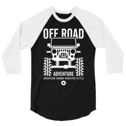 off road offroad adventure urban 3/4 Sleeve Shirt | Artistshot