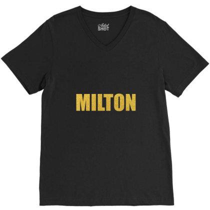 Milton, Quality Shirt, John Milton, Milton Mug, Tank Top, Mask... V-neck Tee Designed By Word Power