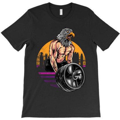 Eagle Gym T-shirt Designed By Spoilerinc