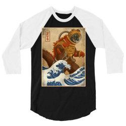godzilla 3/4 Sleeve Shirt | Artistshot