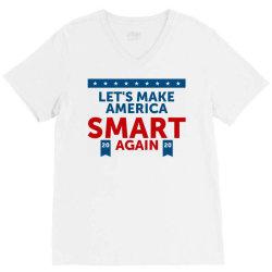 america smart again V-Neck Tee   Artistshot