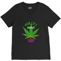 worlds dopest dad shirt V-Neck Tee | Artistshot