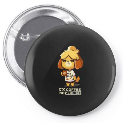 Isabelle Coffee Pin-back Button Designed By Flatcher
