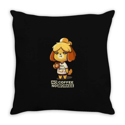 Isabelle Coffee Throw Pillow Designed By Flatcher