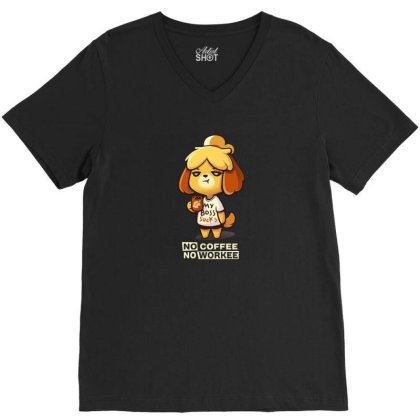 Isabelle Coffee V-neck Tee Designed By Flatcher