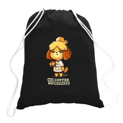 Isabelle Coffee Drawstring Bags Designed By Flatcher