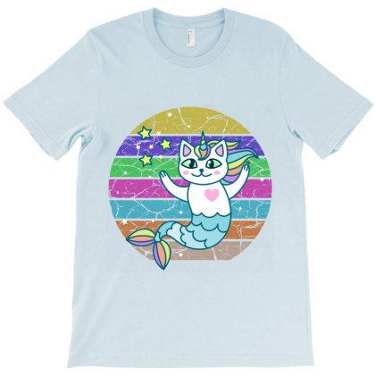 Cute Mermaid Cat T-shirt Designed By Redline77