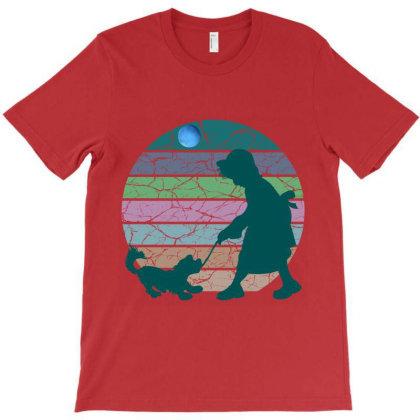 Little Girl And Dog T-shirt Designed By Redline77