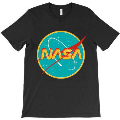Nasa Retro T-shirt Designed By Mazikos