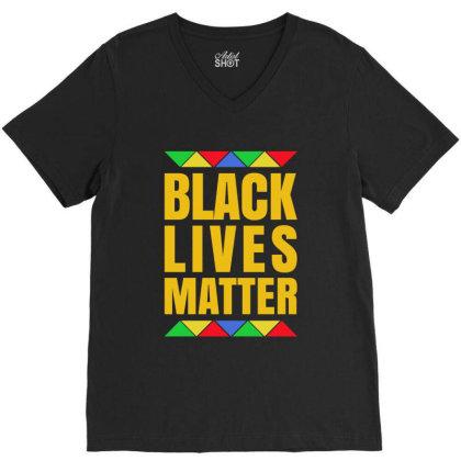 Black Lives Matter Pride V-neck Tee Designed By Helloshop
