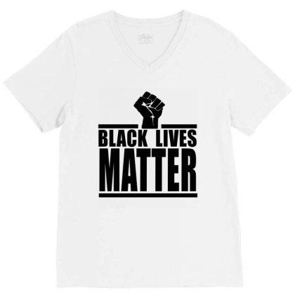 Black Lives Matter V-neck Tee Designed By Elegance99