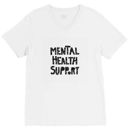 Mental V-neck Tee Designed By Disgus_thing