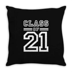 Class Of 2021 - Senior Graduation School Throw Pillow Designed By Cidolopez