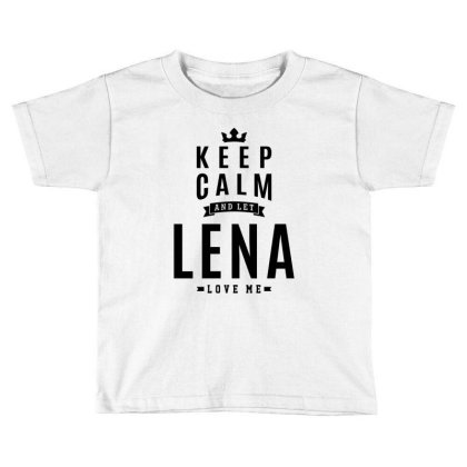 Lena Personalized Name Birthday Gift Toddler T-shirt Designed By Cidolopez