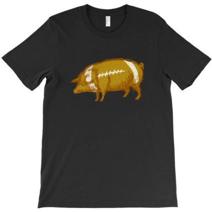 Pigskin Pig Football Original Art T-shirt Designed By Bullshirtco